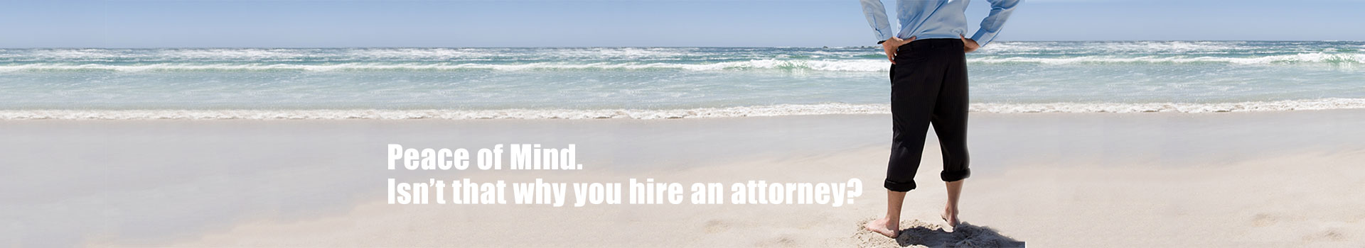 Attorney on beach, Gary L. Davis, Pasco County Attorney